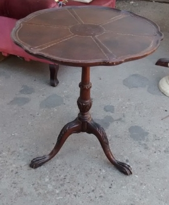 15F04 LEATHER TOP AS IS TABLE.jpg
