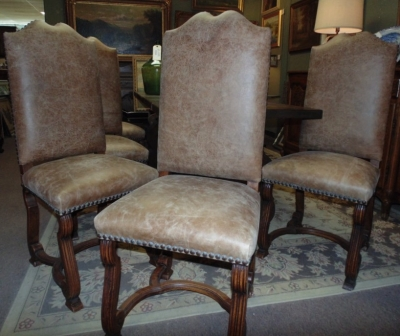 14C31246 SET OF 6 OAK TALL BACK CHAIRS