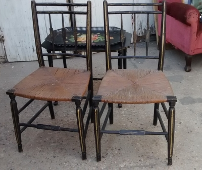 15F04 PAIR OF RUSH AND EBONIZED CHAIRS.jpg