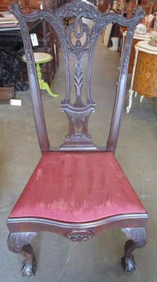 02 PAIR CHIPPENDALE CHAIRS (1)