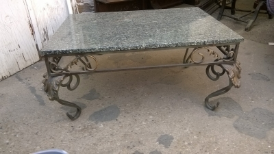 15G08 GRANITE TOP IRON COFFEE TABLE (1).jpg