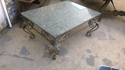 15G08 GRANITE TOP IRON COFFEE TABLE (2).jpg