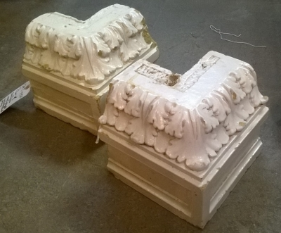 15F PAIR OF WHITE GLAZED ARCHITECTURAL PIECES.jpg