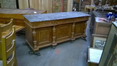 13C06010 MARBLE TOP AUSTRIAN SIDEBOARD OR DOUBLE VANITY (1).jpg