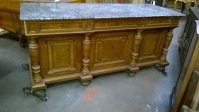 13C06010 MARBLE TOP AUSTRIAN SIDEBOARD OR DOUBLE VANITY (3).jpg