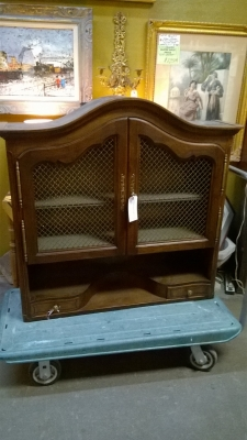 15F27355 LOUIS XV WALL CABINET WITH WIRE MESH DOORS.jpg