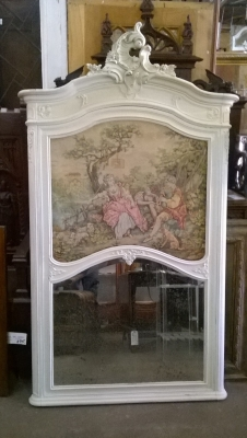 15G PAINTED LOUIS XV TRUMEAU TAPESTRY MIRROR (1).jpg