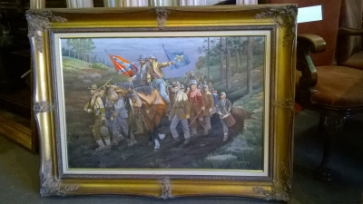 15G14 FRAMED OIL PAINTING OF CONFEDERATE ARMY.jpg