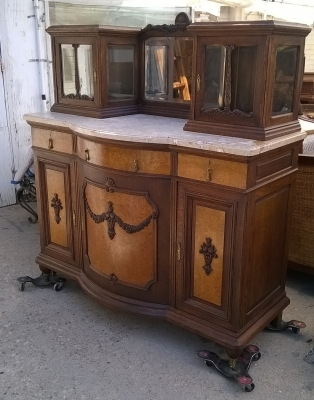 15G14 MATCHING PAIR OF LOUIS XVI SERVERS WITH MIRROR AND CABINET TOPS (1).jpg