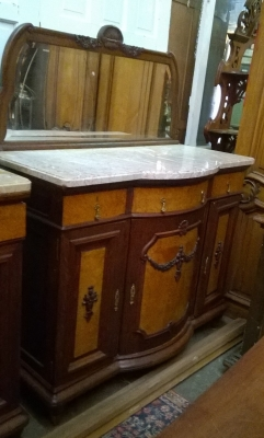15G14 MATCHING PAIR OF LOUIS XVI SERVERS WITH MIRROR AND CABINET TOPS (4).jpg