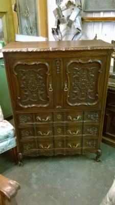 36  -86140 CARVED OAK LOUIS XV CABINET (2).jpg
