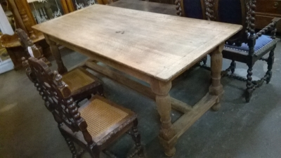 GRP STRIPPED OAK TRESTLE TABLE.jpg