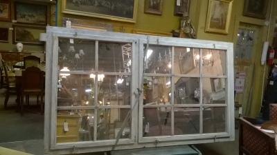 15G24512 LARGE PAINTED MULLIONED MIRRORED WINDOW.jpg