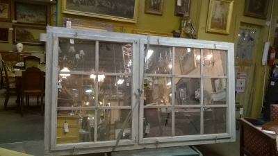 15G24512 LARGE PAINTED MULLIONED MIRRORED WINDOW.jpg