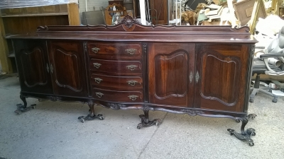 15G25625 LOUIS XV ROSEWOD SIDEBOARD 9 AND A HALF FT. LONG  (2).jpg