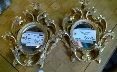 15G22001 PAIR OF SMALL ITALIAN GILT MIRRORS.jpg