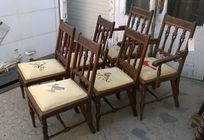 15G26015 SET OF 6 AMERICAN EASTLAKE CHAIRS WITH BIRD SEATS (2).jpg