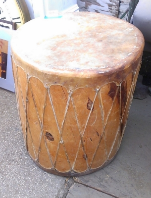 15G30009 LARGE WOOD AND LEATHER DRUM (1).jpg
