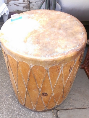 15G30009 LARGE WOOD AND LEATHER DRUM (2).jpg