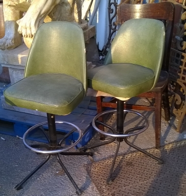 GRP - PAIR OF GREEN BAR STOOLS.jpg
