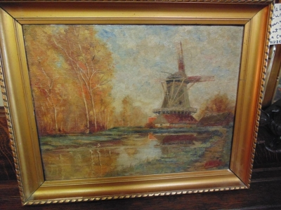 11 SMALL WINDMILL OIL PAINTING.JPG
