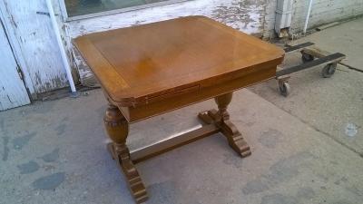 15H08 ENGLISH OAK DRAWLEAF PUB TABLE (1).jpg