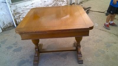 15H08 ENGLISH OAK DRAWLEAF PUB TABLE (2).jpg