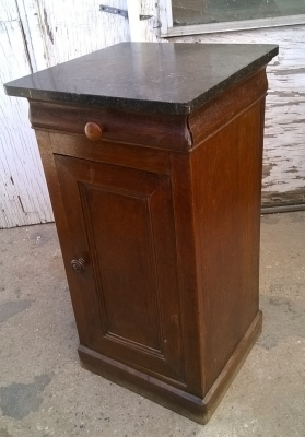 15H08 LOUIS PHILIPPE MARBLE TOP NIGHT STAND (1).jpg