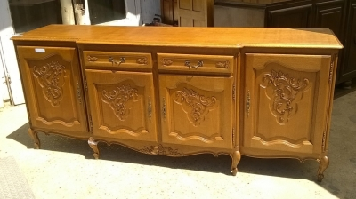 15H08 LOUIS XV OAK 4 DOOR 2 DRAWER SIDEBOARD (1).jpg