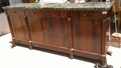 15H08 MARBLE TOP EMPIRE SIDEBOARD (1).jpg