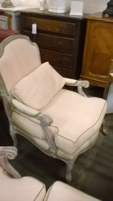 15H PAIR OF NOT OLD LOUIS XV CHAIRS AND OTTOMAN (2).jpg