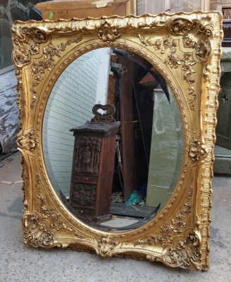 15H24 BEAUTIFUL GILT FRAMED OVAL MIRROR.jpg