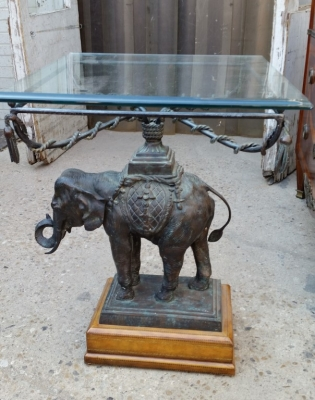 15H24 BRONZE BASE GLASS TOP ELEPHANT TABLE (2).jpg