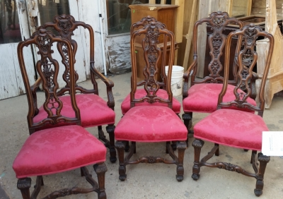 15H24 SET OF 6 CARVED HIGHBACK CHAIRS WITH 2 ARM CHAIRS (1).jpg