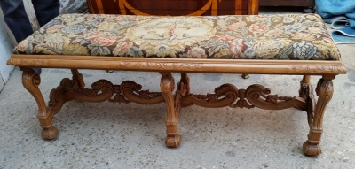 15H24 TAPESTRY COVERED FRENCH BENCH (1).jpg