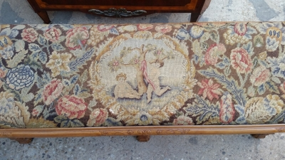 15H24 TAPESTRY COVERED FRENCH BENCH (2).jpg