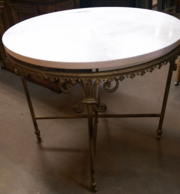 15H31418 ROUND MARBLE TOP TABLE WITH IRON BASE.jpg