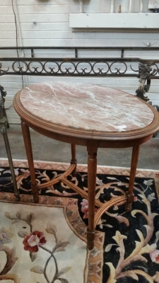15I03 FRENCH MARBLE TOP OCCASIONAL TABLE (1).jpg
