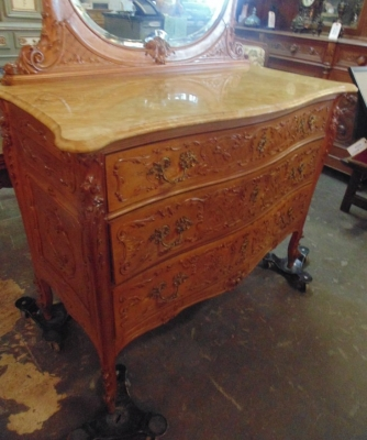 14D10005 LOUIS XV CARVED MARBLE TOP CHEST WITH MIRROR (5).JPG
