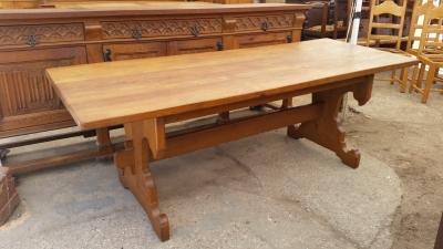 15I03 GOTHIC OAK TRESTLE TABLE (1).jpg