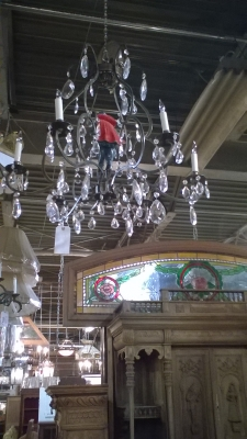 15I03 IRON AND CRYSTAL CHANDELIER.jpg