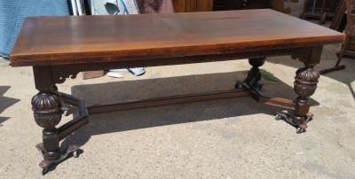 15I03 LARGE BULBOUS LEG DRAWLEAF TABLE (1).jpg