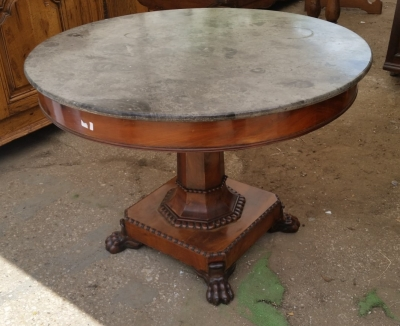 15I03 LOUIS PHILLIPE MARBLE TOP TABLE (1).jpg