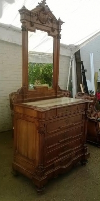 14D10006 ITALIAN WALNUT MIRRORED COMMODE  (1).jpg