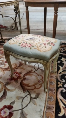 15I03 LOUIS XV NEEDLE POINT STOOL (1).jpg