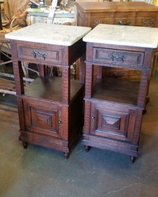 15I03 PAIR OF FRENCH MARBLE TOP STANDS (1).jpg