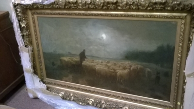 15I12  FRAMED PAINTING OF SHEEP (1).jpg