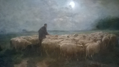 15I12  FRAMED PAINTING OF SHEEP (2).jpg