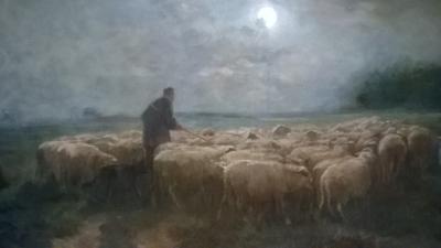 15I12  FRAMED PAINTING OF SHEEP (2).jpg