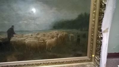 15I12  FRAMED PAINTING OF SHEEP (4).jpg